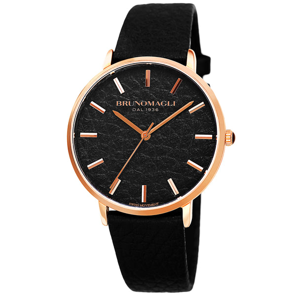 Women's Roma Watch - Black & Rose Gold