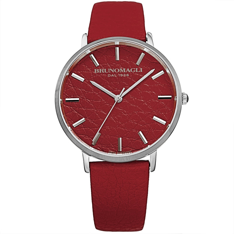 Women's Roma Watch - Red & Silver
