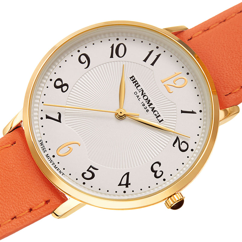 Roma 1221 Watch, Orange Strap