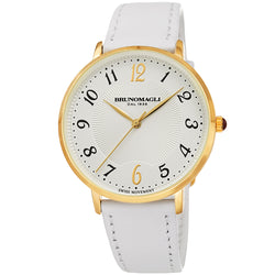Roma 1221 Watch, White Strap