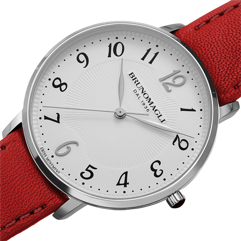 Roma 1221 Watch, Red Strap