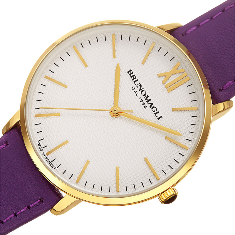 Roma 1222 Watch, Purple Strap