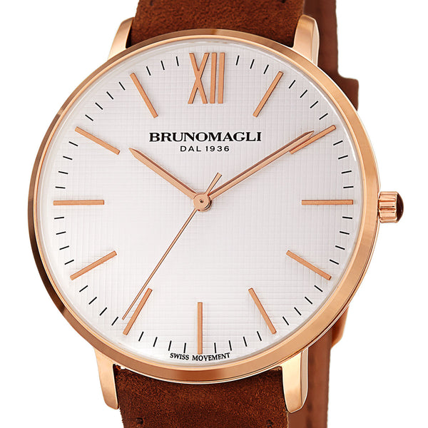 Roma 1222 Watch, Brown Strap
