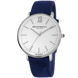 Roma 1222 Watch, Blue Suede Strap