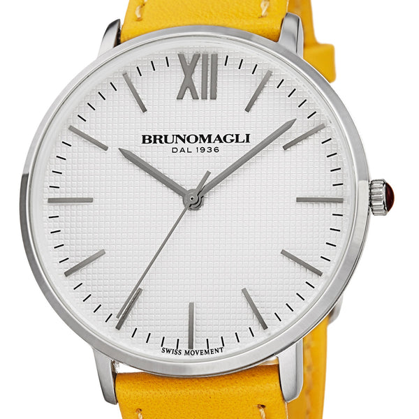 Roma 1222 Watch, Yellow Strap