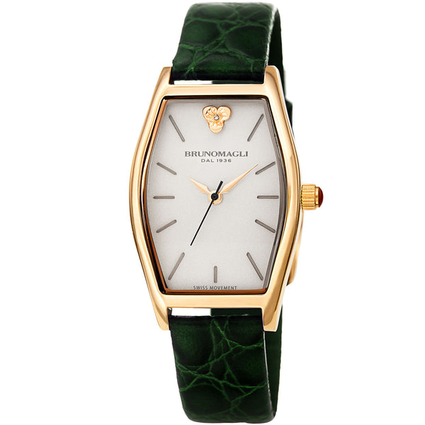 Chiara 1261 Tonneau Watch, Green Strap