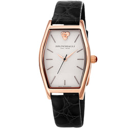 Chiara 1261 Tonneau Watch, Black Strap