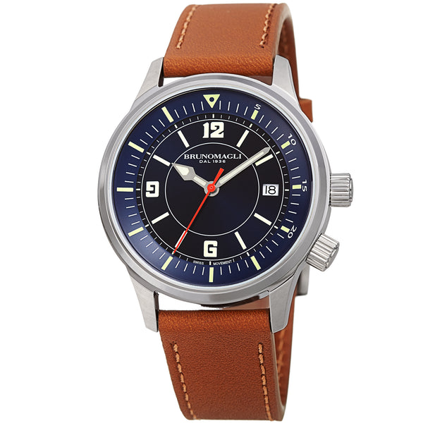 Men's Vittorio Watch - Silver-Tone/Tan