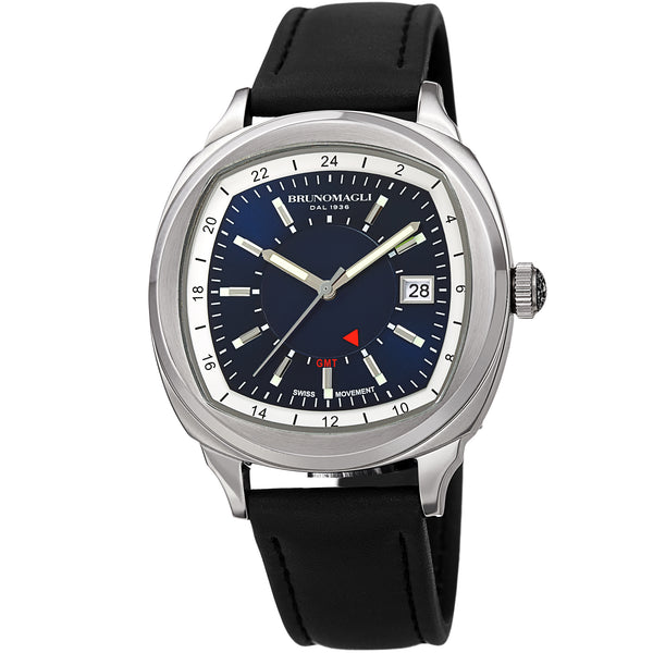 Men's Enzo Watch - Silver-Tone/Black