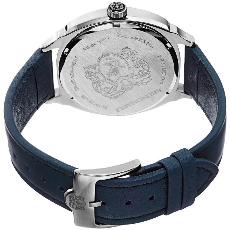 Men's Enzo Watch - Silver-Tone/Blue