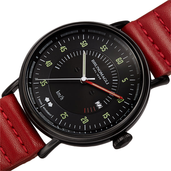 Men's Alex 1361 Watch - Black/Dark Red