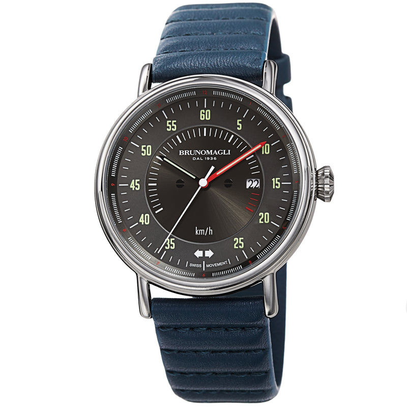 Men's Alex 1361 Watch - Silver-Tone/Blue
