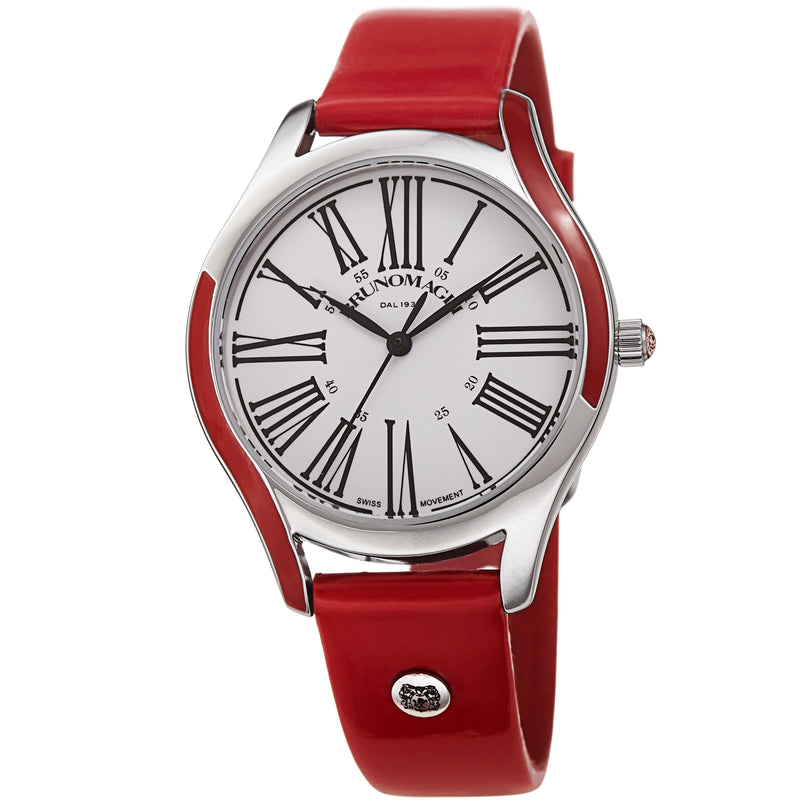 Women's Alessia 1381 Watch - Silver-Tone/Red
