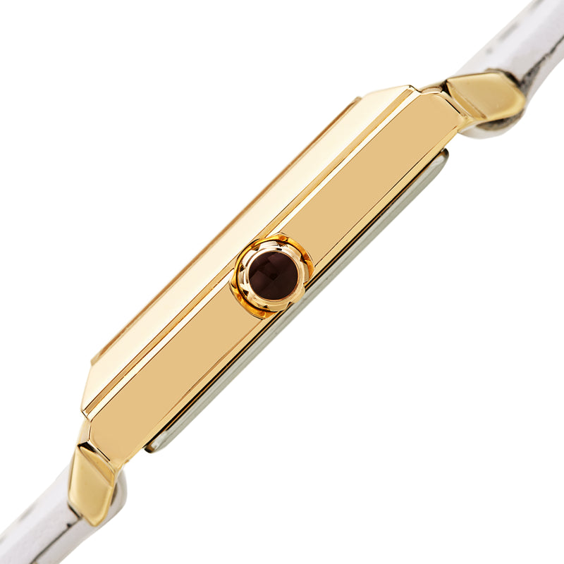 Women's Valentina Watch - White/Black & Gold