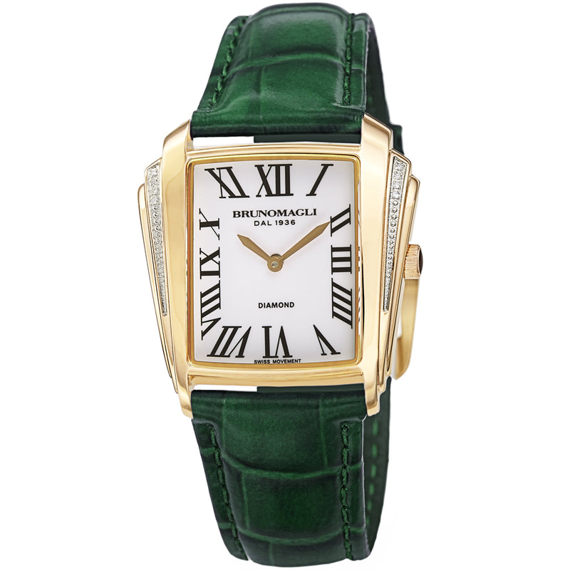 Women's Vera 1461 Watch - Gold-Tone/Dark Green
