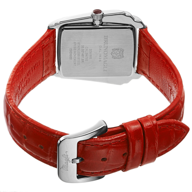 Women's Vera 1461 Watch - Silver-Tone/Red
