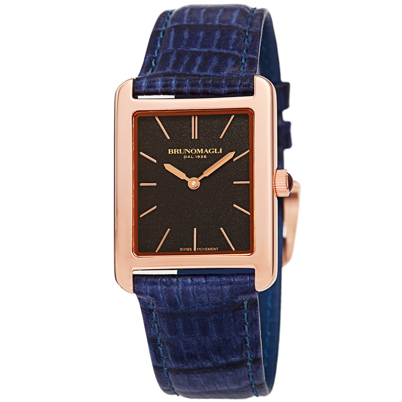 Women's Giulia 1501 Watch - Rose Gold-Tone/Dark Blue