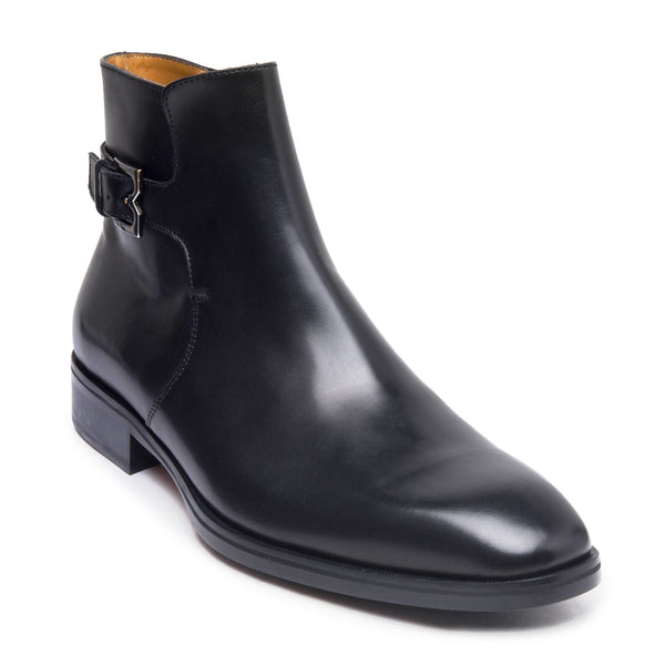 Angiolini Leather Dress Boot - Black
