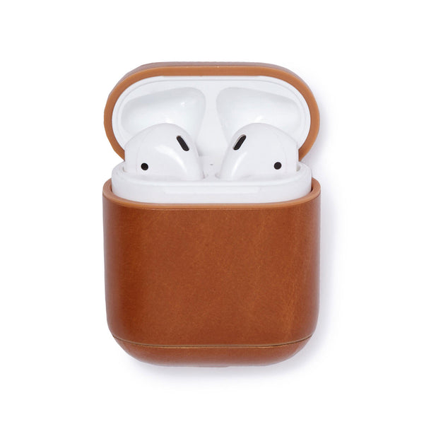 Leather AirPods Case - Camel - Soho Exclusive