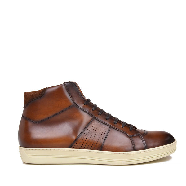 Alvino Leather Sneaker - Soho Exclusive - Brown Leather
