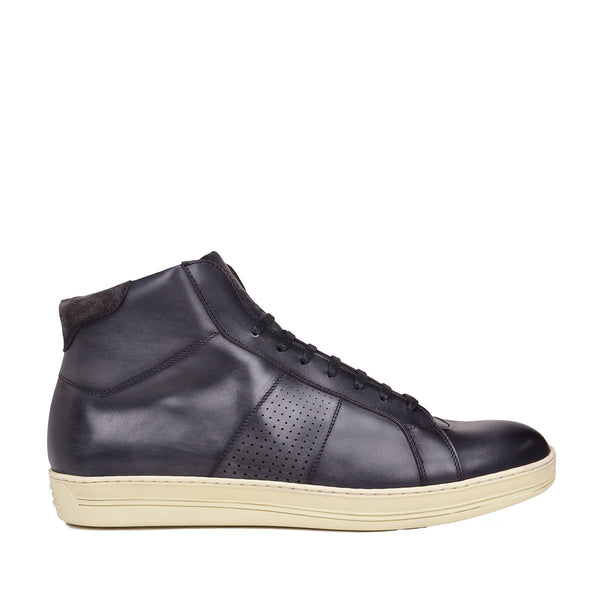Alvino Leather Sneaker - Soho Exclusive - Dark Grey Leather