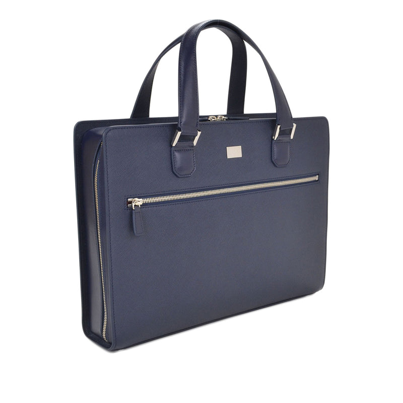 Neoclassico Large Briefcase - Navy