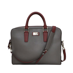 Bicolor Portfolio Case - Grey/Wine