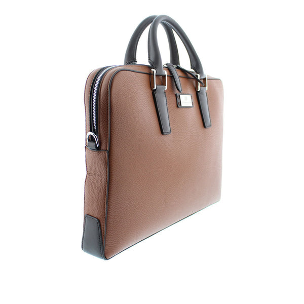 Bicolor Portfolio Case - Brown