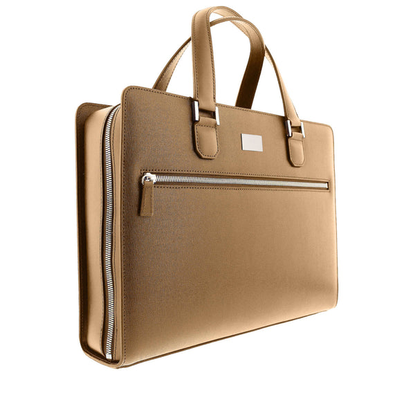 Neoclassico Large Briefcase - Tan