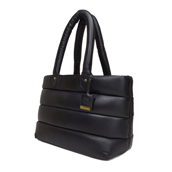 Leather Puffer Tote Bag - Soho Exclusive