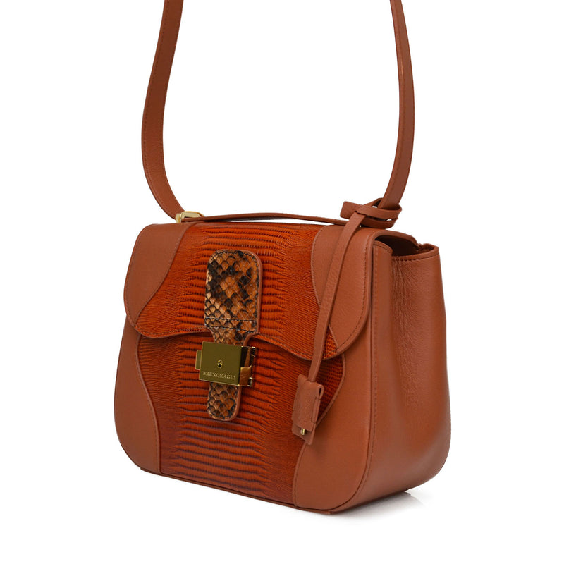Equestrian Lock Flap Shoulder Bag - Soho Exclusive