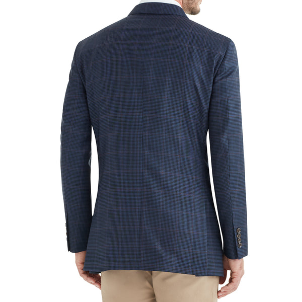 Bassi Window Check Plaid Two-Button Sportcoat - Navy - Online Exclusive - FINAL SALE