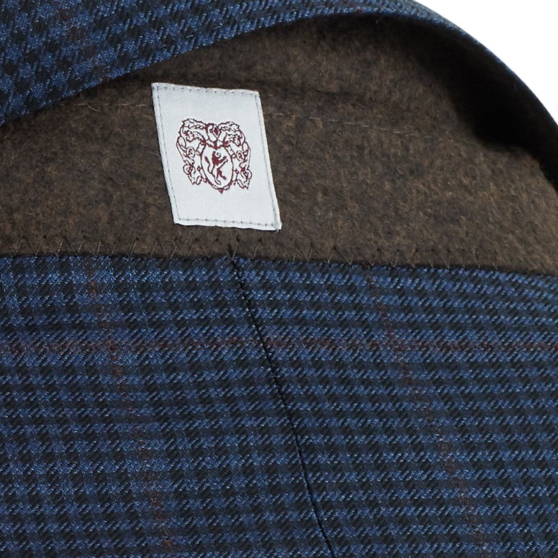 Bassi Window Check Plaid Two-Button Sportcoat - Navy - Online Exclusive
