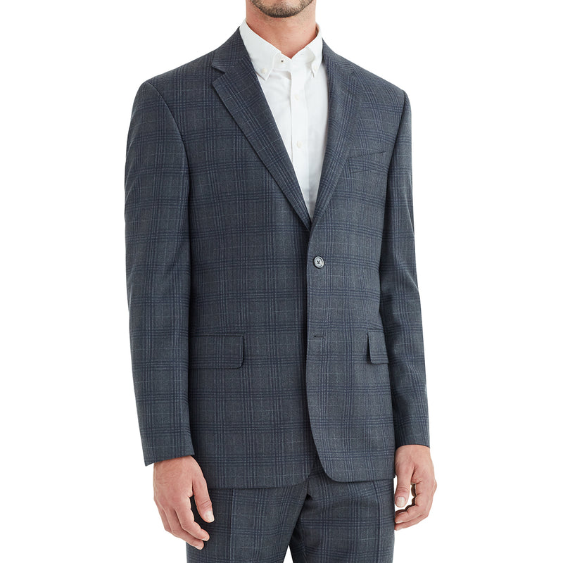 Galli Window Plaid Single-Breasted Suit - Charcoal Grey - Soho Exclusive
