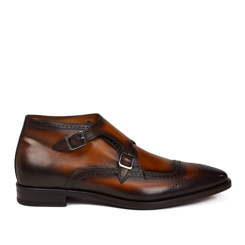 Carlo Monk-Strap Ankle Boot - Cognac Leather
