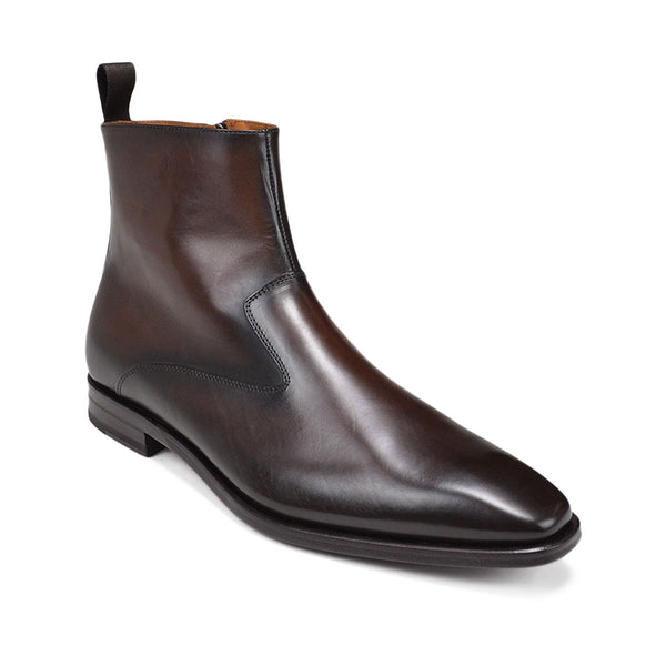 Cavuto Leather Boot - Dark Brown Leather