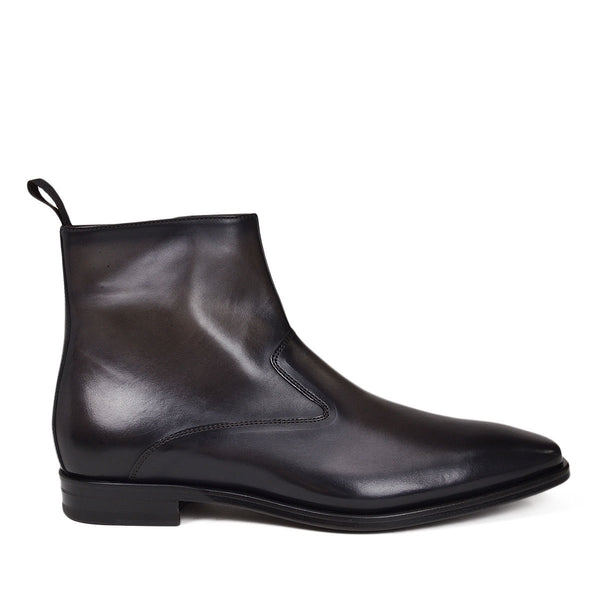 Cavuto Leather Boot - Dark Grey Leather - FINAL SALE