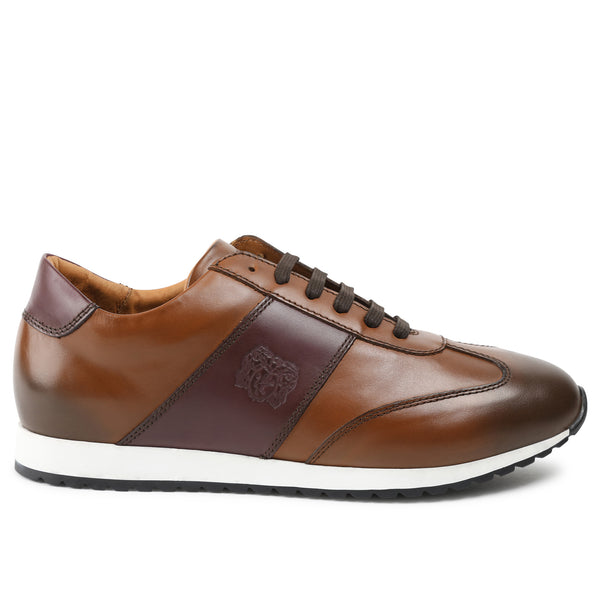 Elliot Jogger Lace-Up Oxford Sneaker - Cognac