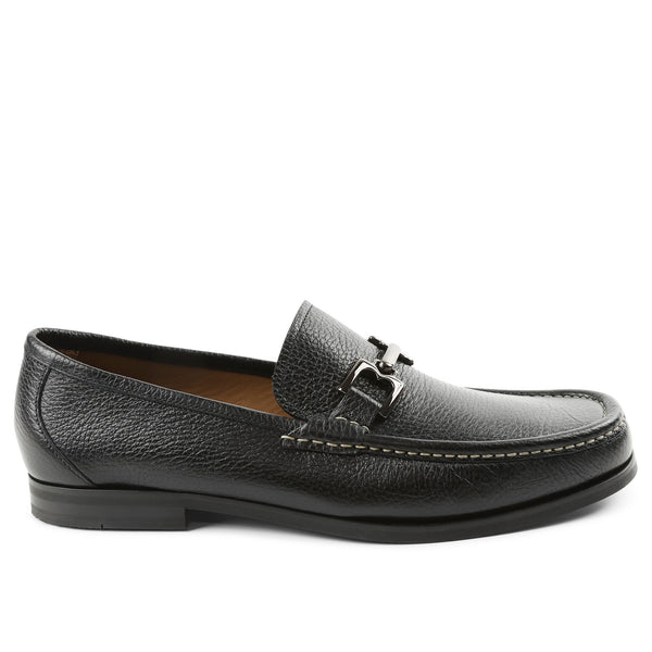 Enrico Leather Bit Loafer Slip-On - Black
