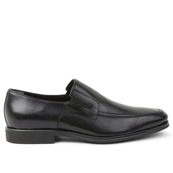 Raging Leather Slip-on - Black Leather