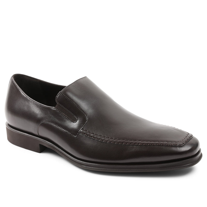 Raging Leather Slip-on - Dark Brown Leather