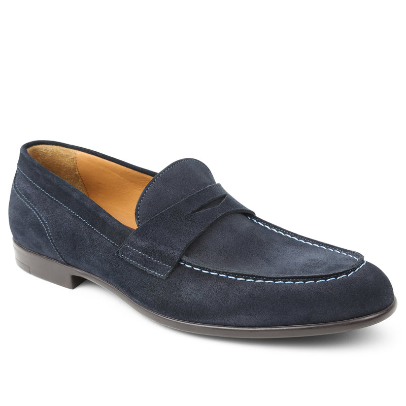 Silas Suede Loafer - Navy