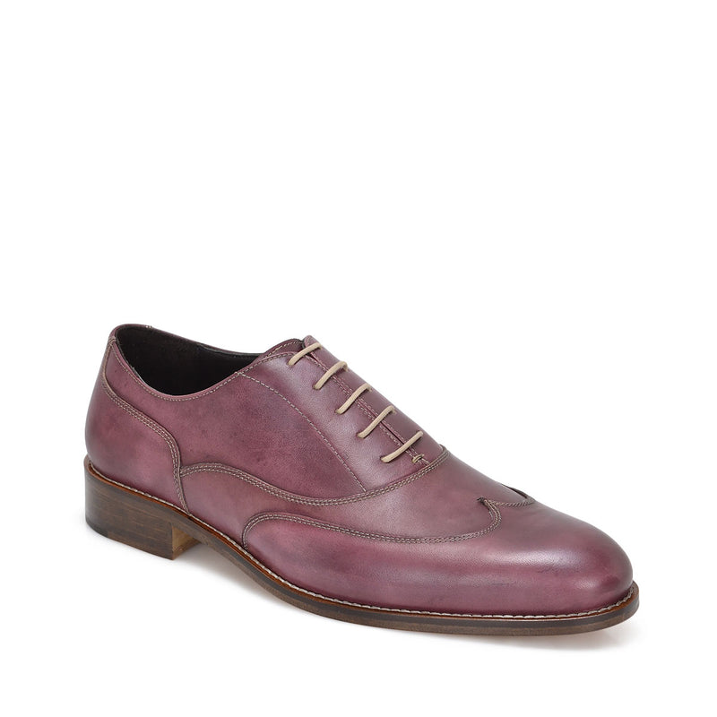 Simon Men's Leather Lace-up Oxford - Burgundy