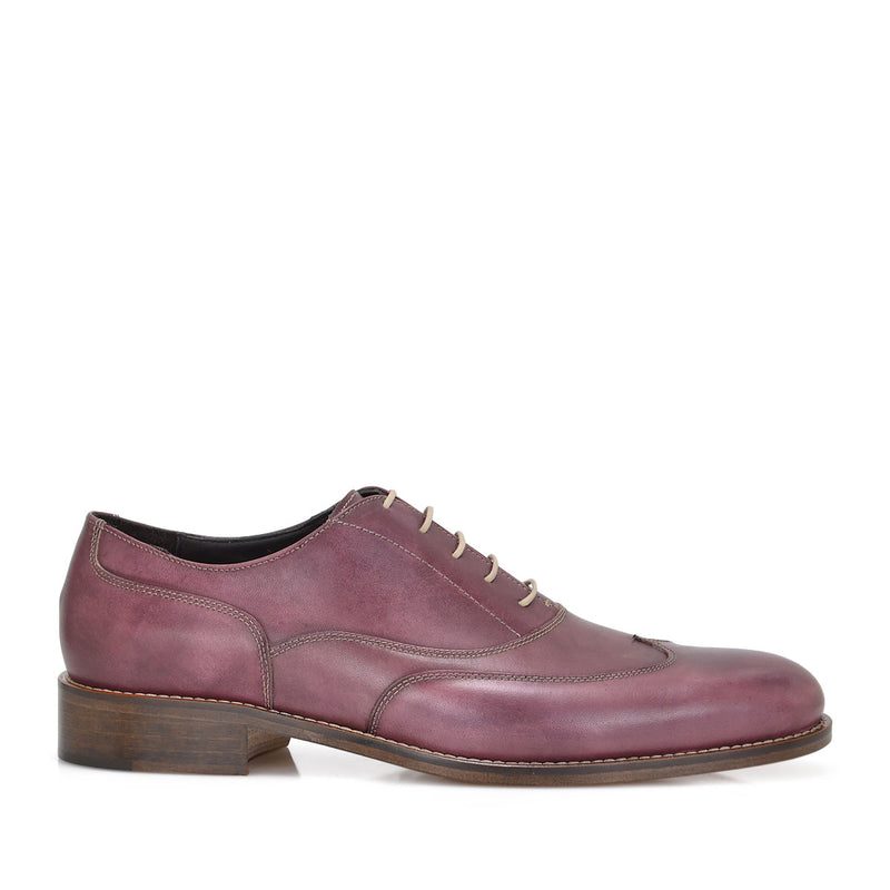 Simon Men's Leather Lace-up Oxford - Burgundy - FINAL SALE