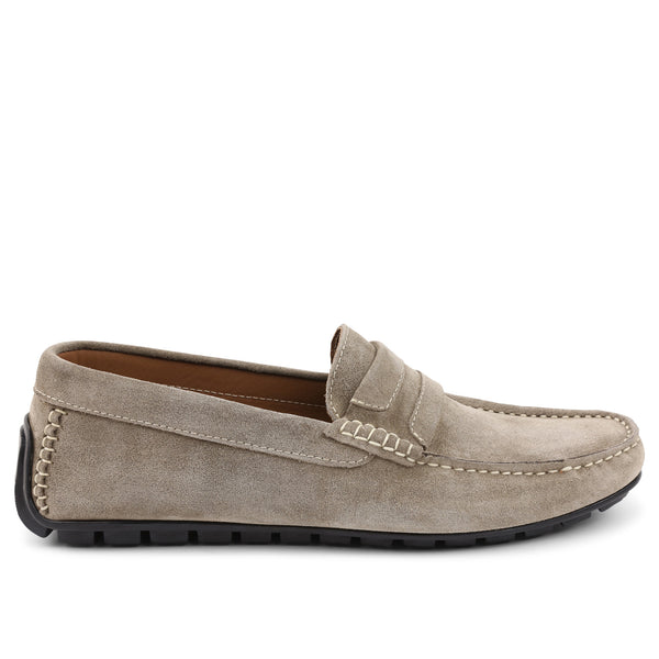 Xeleste Suede Driving Moccasin - Taupe