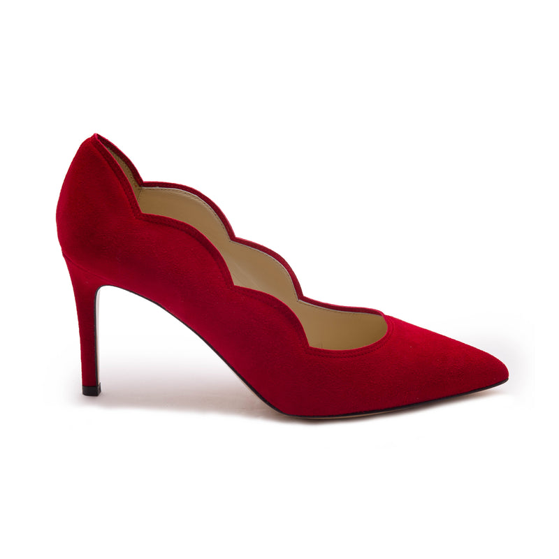 Adima Women's Pump  - Red Suede