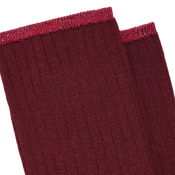 Women's No 279 Short Classic Socks - Bordeaux