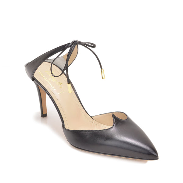 Aileen Pump, 3-inch - Black Leather