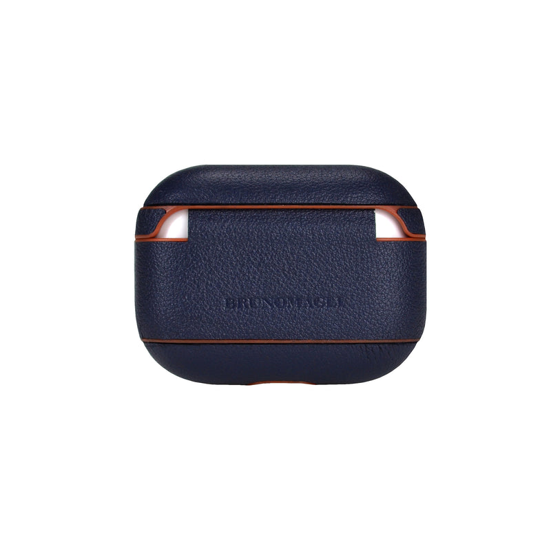 Nappa Leather AirPods Pro Case - Navy/Tan