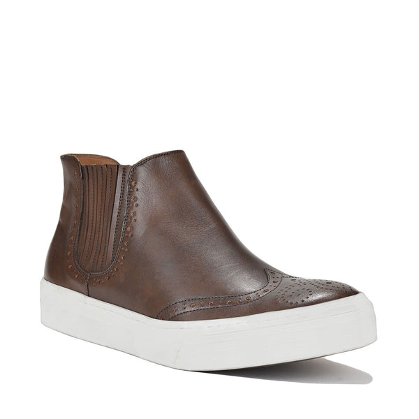 Alessio Slip-on Sneaker - FINAL SALE - Dark Brown Leather